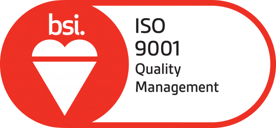 BSI Assurance Mark ISO 9001 Red 560X260