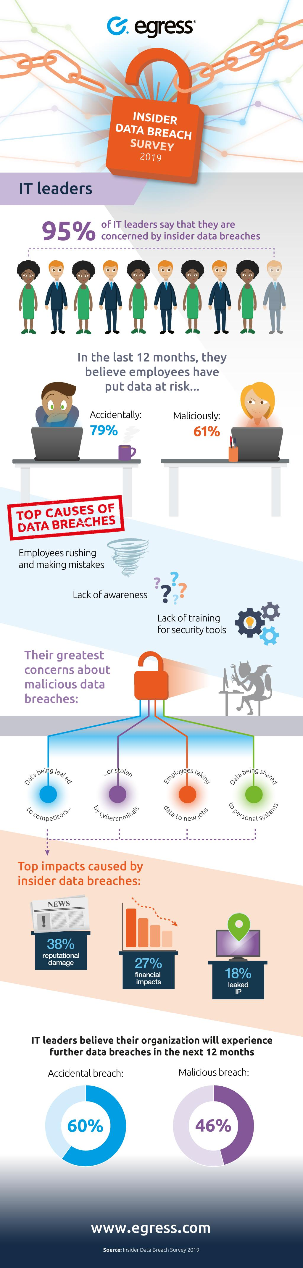 Insider threat data breaches infographic